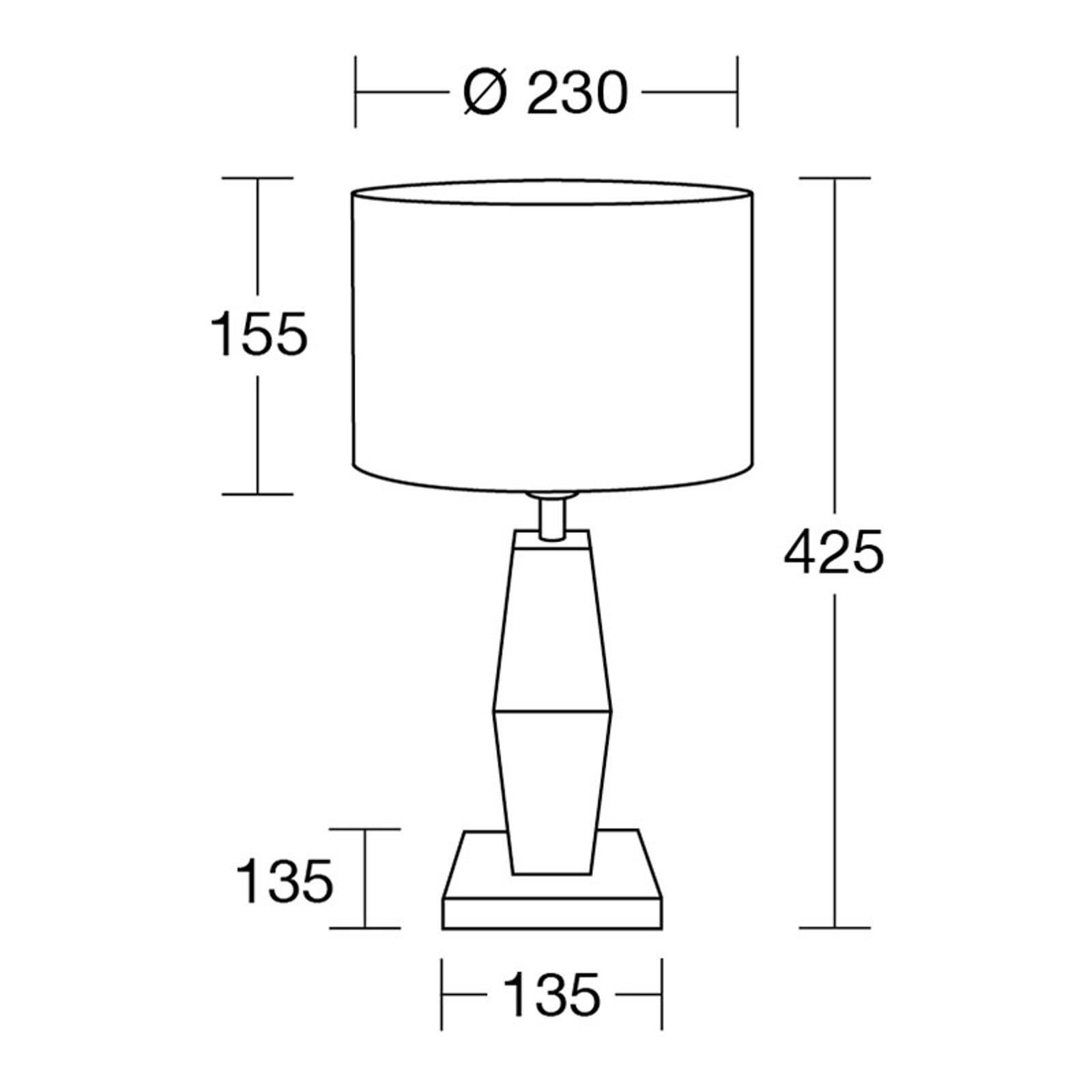 HerzBlut Marla lampe à poser chêne huilé 42,5cm
