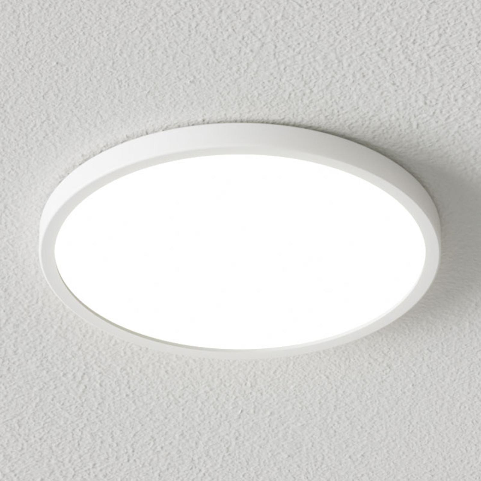 Ściemniana lampa sufitowa LED Solvie, biała