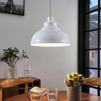 Vintage závěsné světlo Albertine, kov, bílé