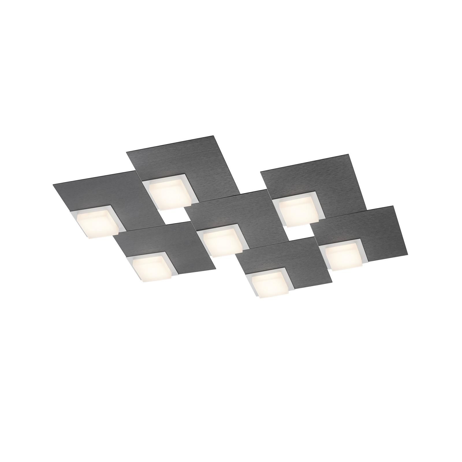 BANKAMP Quadro LED-loftlampe 64 W, antracit