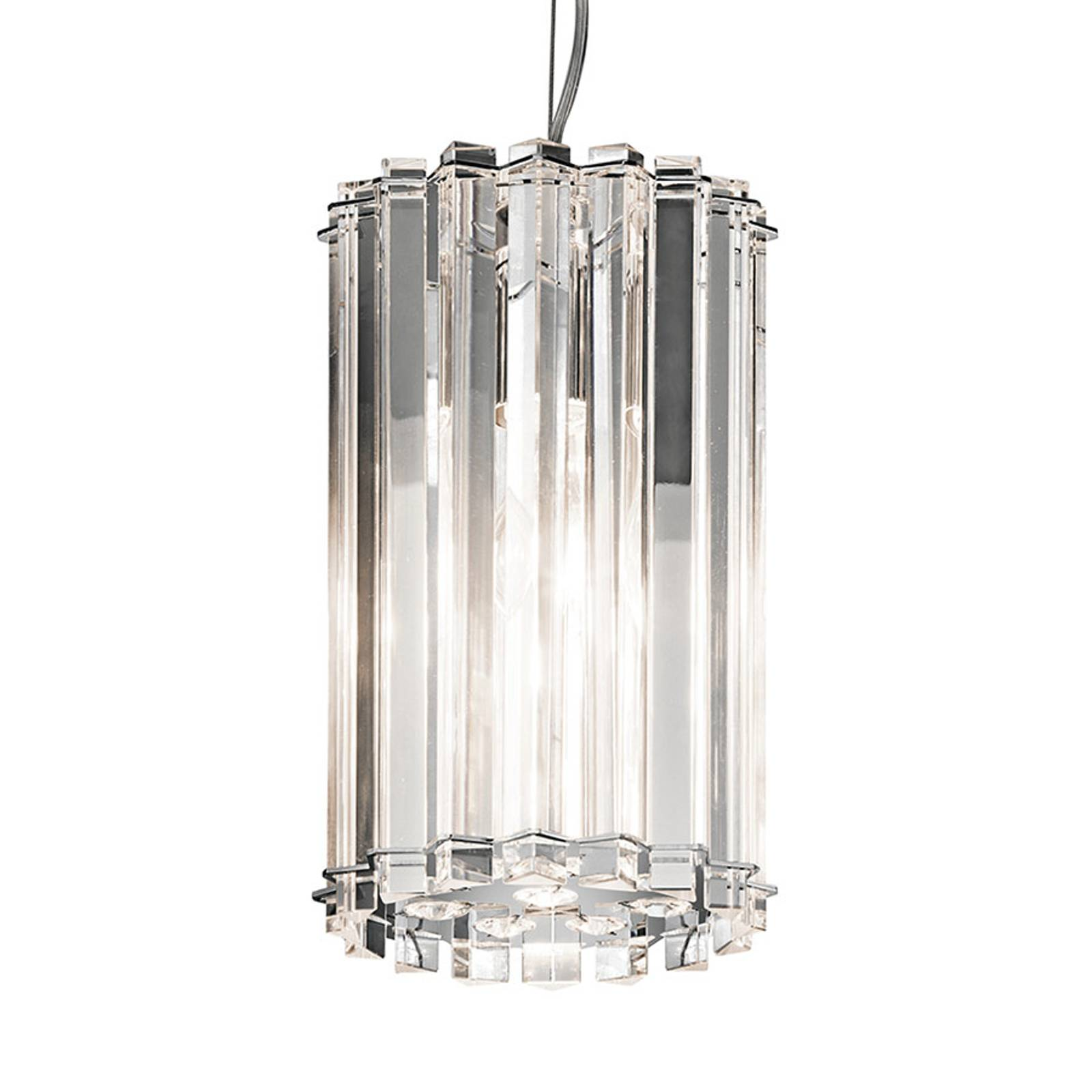 Lampa wisząca LED Crystal Skye, Ø 16,7 cm