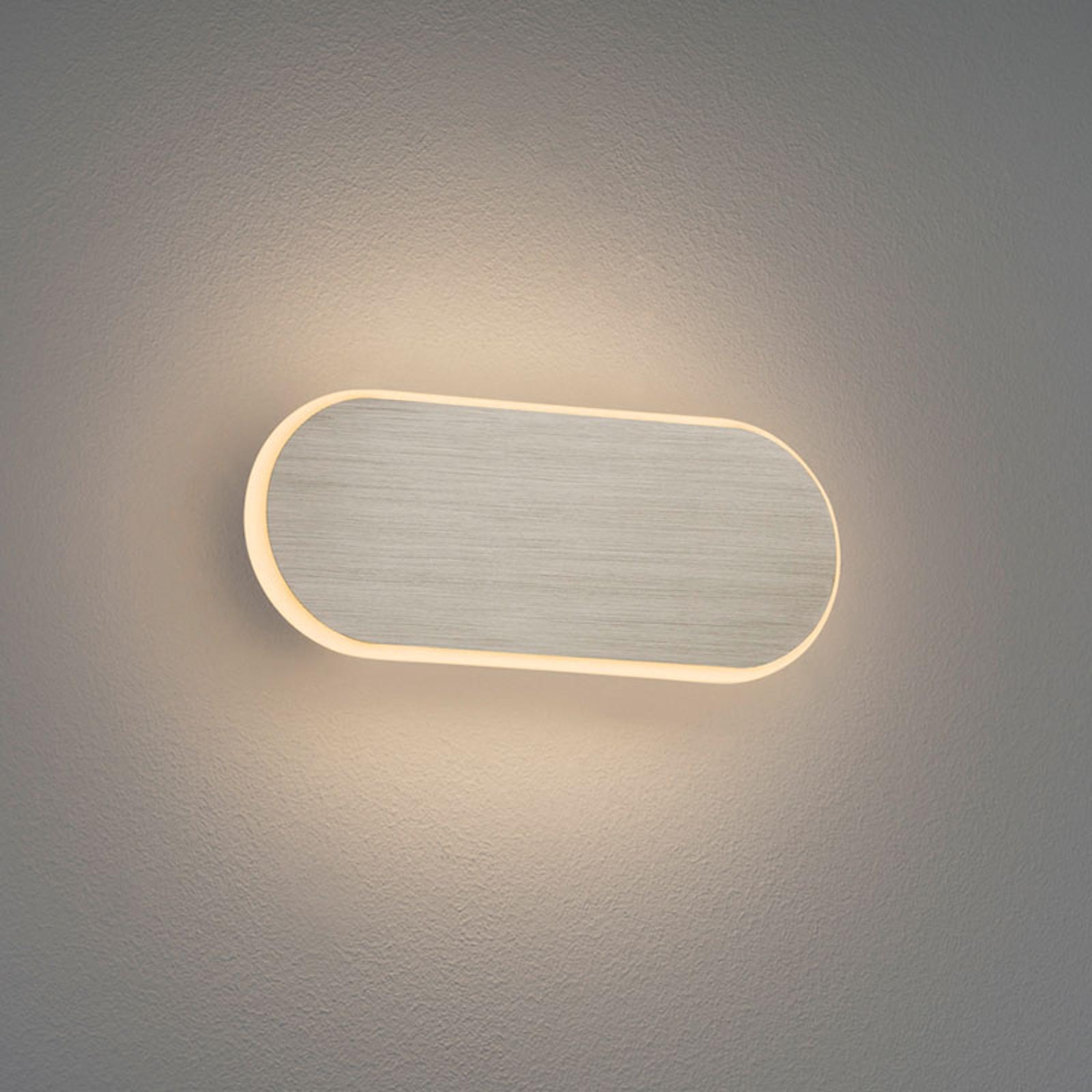 LED wandlamp Carlo, SwitchDim, 20 cm, nikkel mat