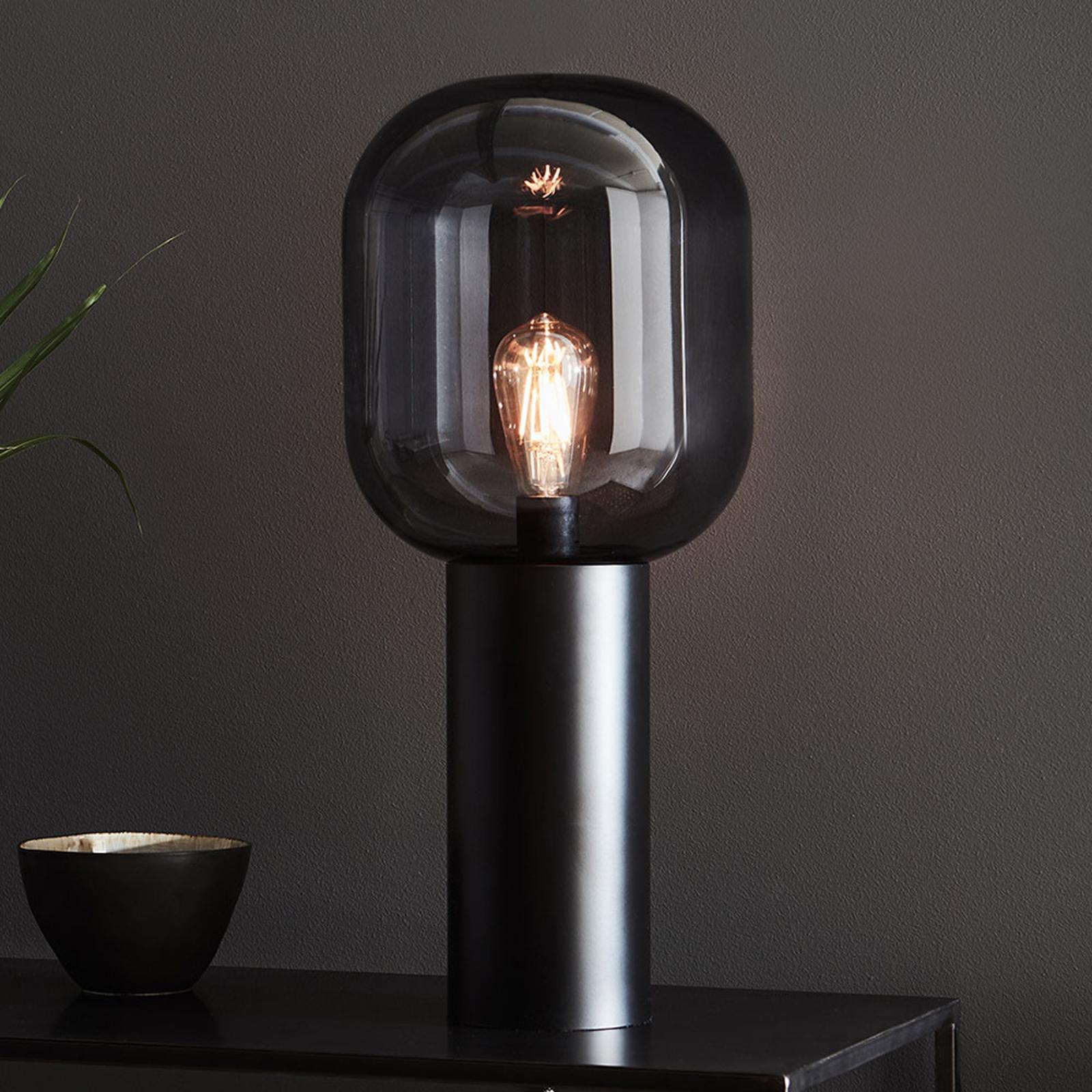 Lampe à poser Brooklyn, gris fumée, 56cm