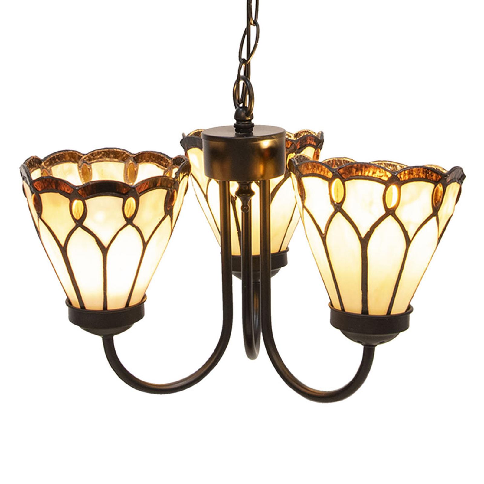 Hængelampe 5996 i tiffanystil, 3 lyskilder