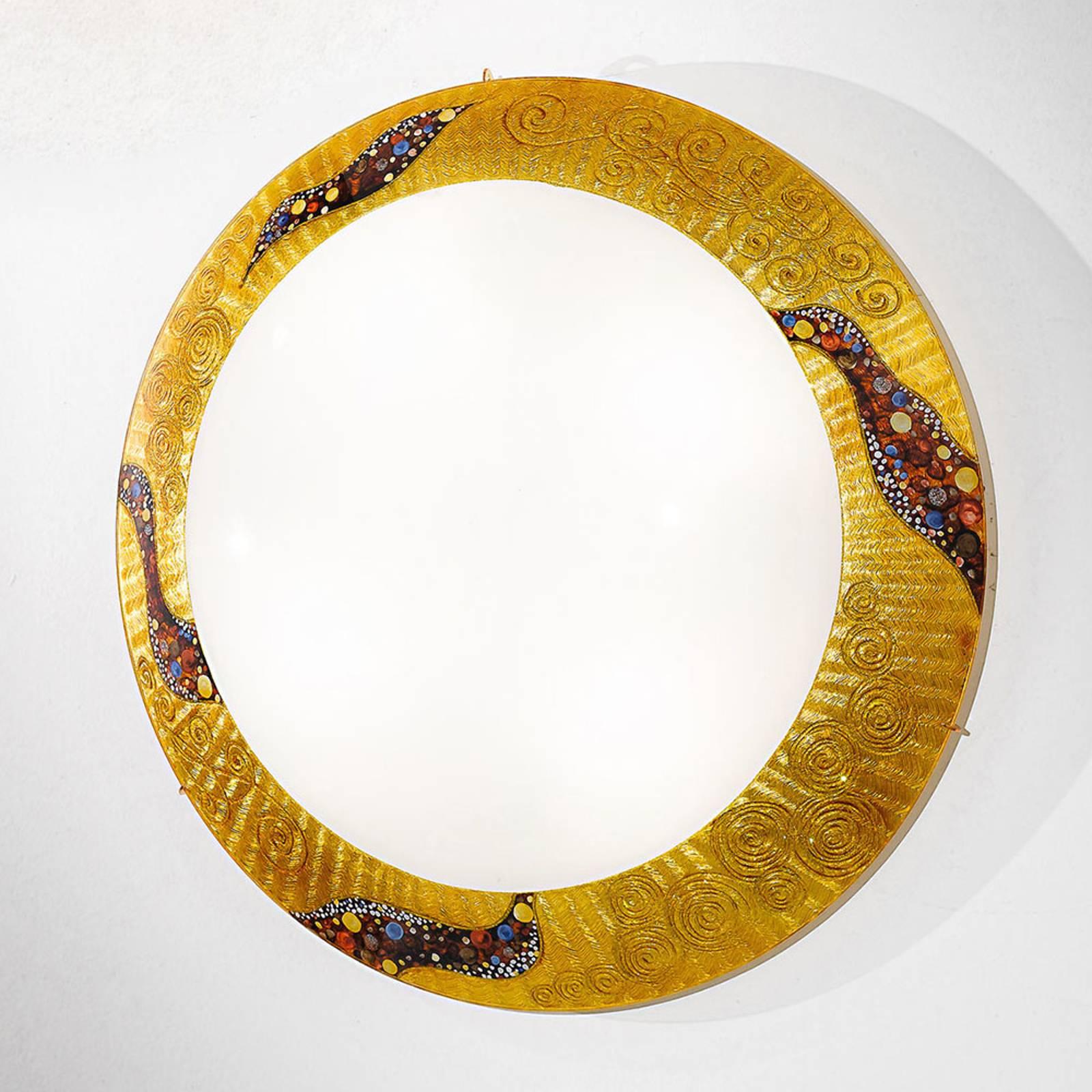 KOLARZ Serena Kiss goud wandlamp 24 kt, Ø 50 cm