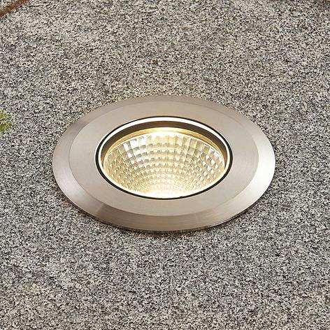 LED roestvrijstalen inbouwlamp Sulea, IP67, rond