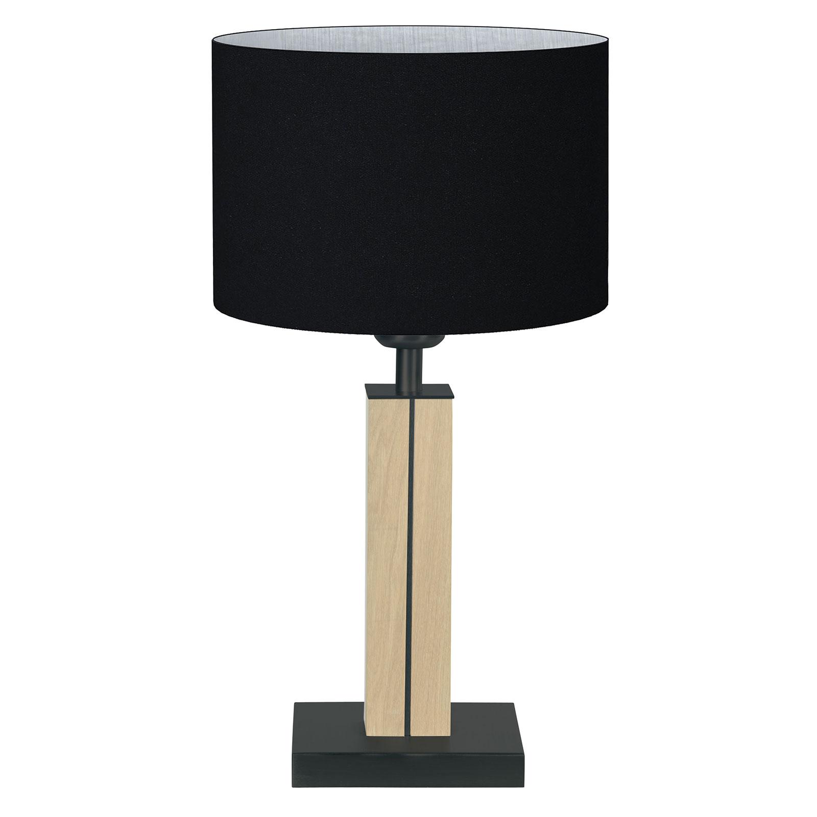 HerzBlut Dana bordlampe naturlig eg, sort 41 cm