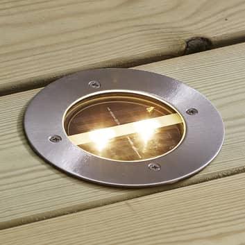 Rund solcellsdriven LED-inbyggnadslampa Decklight