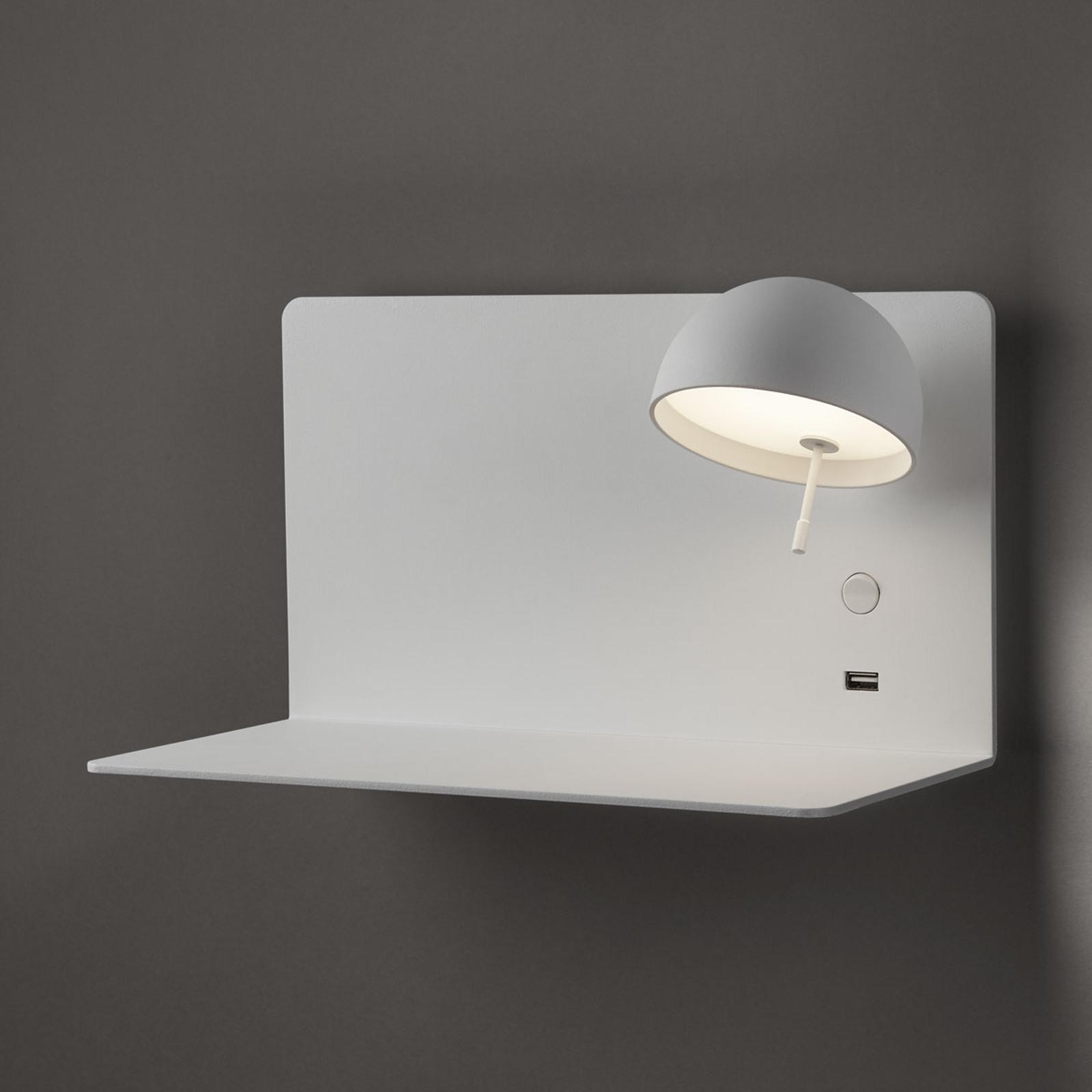 Bover Beddy A/03 LED wandlamp wit spot rechts