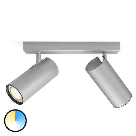 Philips Hue Buratto LED-spot alu 2-lamps dimmer