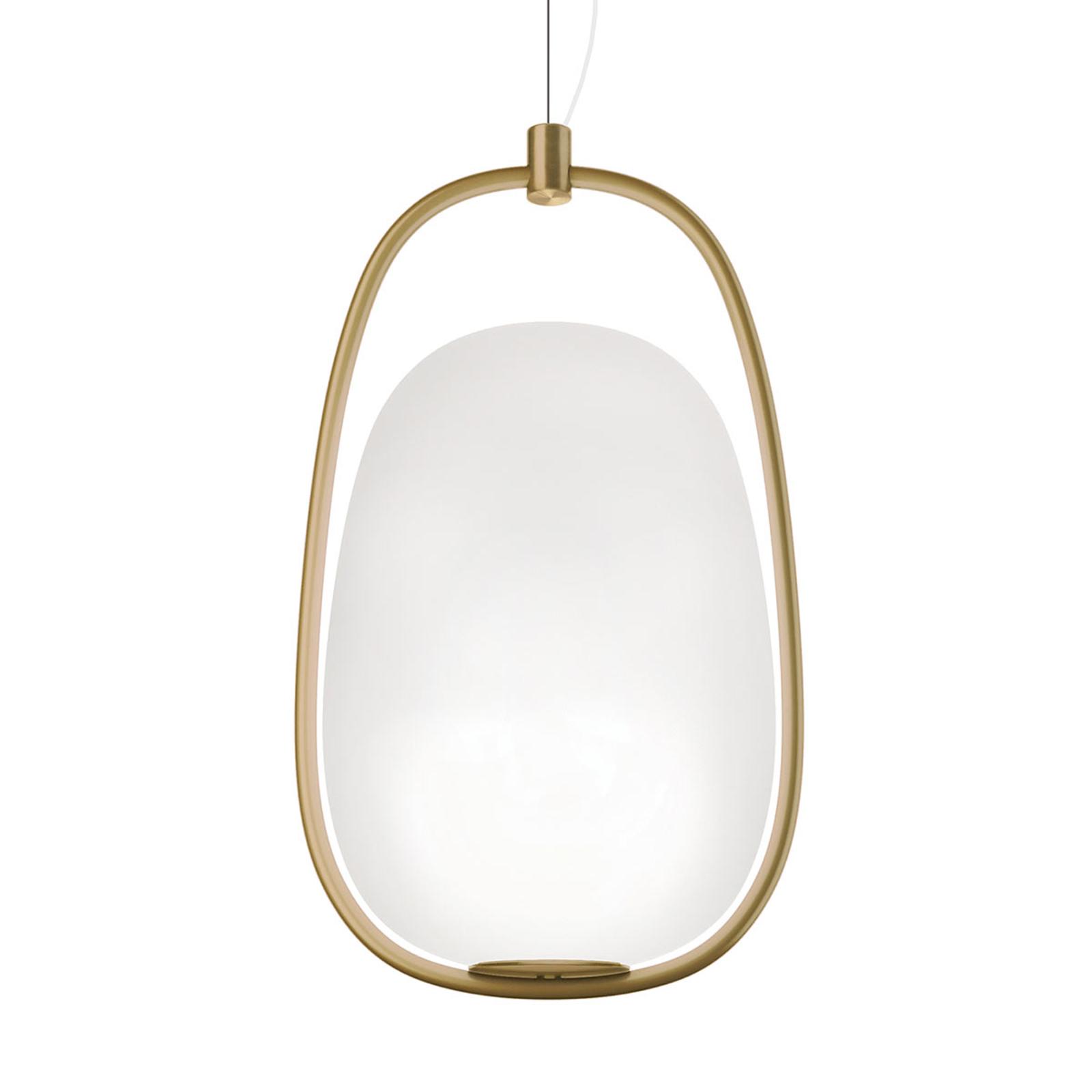 Lanna – stylowa lampa wisząca z mosiężną ramą