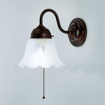 Vägglampa Gretchen med antikt fäste