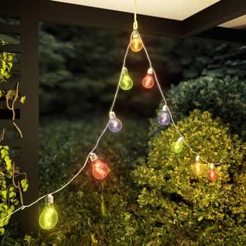Lindby Raean LED-Solar-Lichterkette, bunt