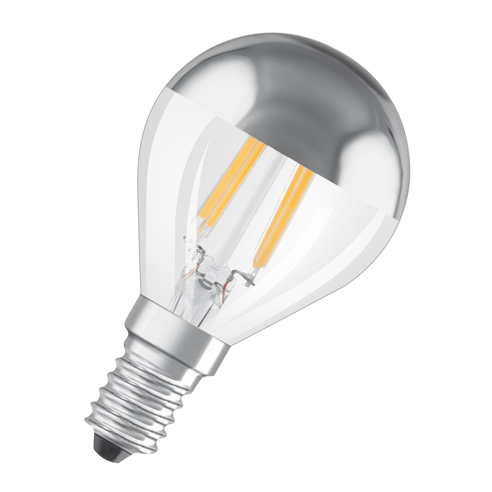 OSRAM LED-Lampe E14 4W Mirror silver 2.700K