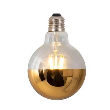 LED zrcadlená žárovka Tomy, E27 6W zlatá