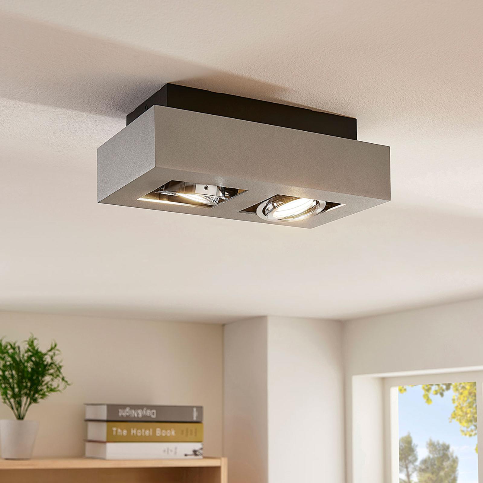 LED-taklampe Vince med 2 lys