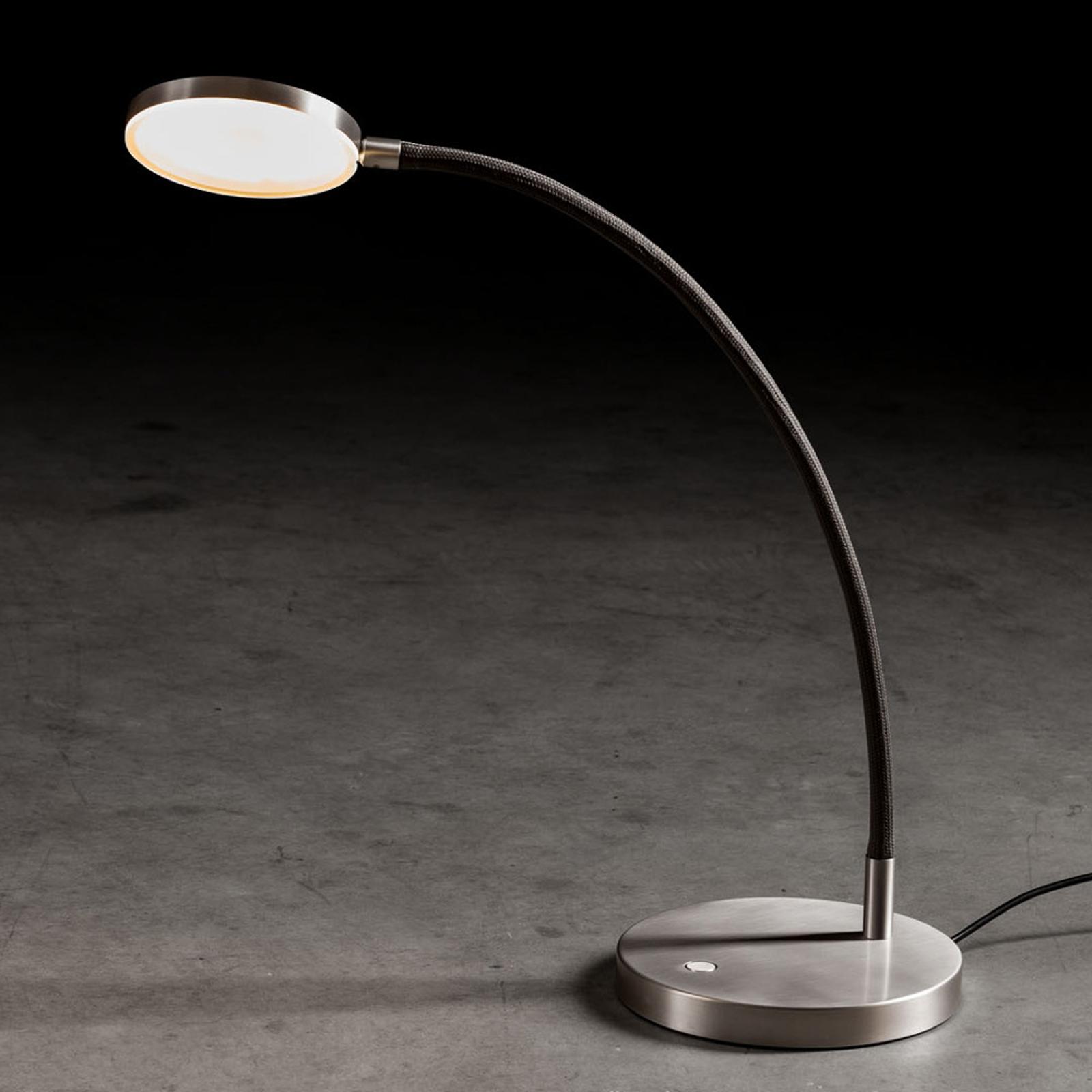 Holtkötter Flex T LED tafellamp mat alu/zwart