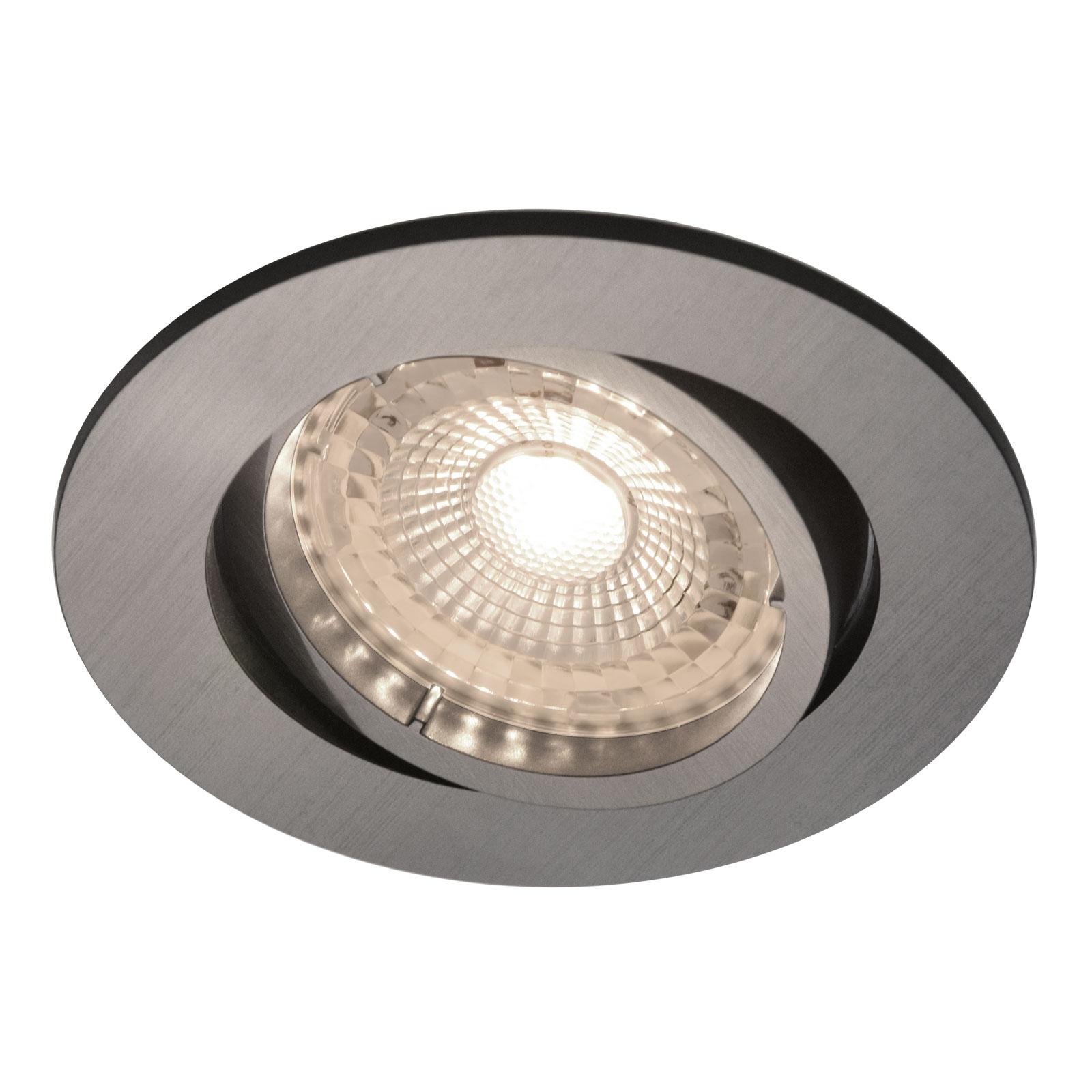 LED inbouwspot Octans 2.700K 3per set, nikkel