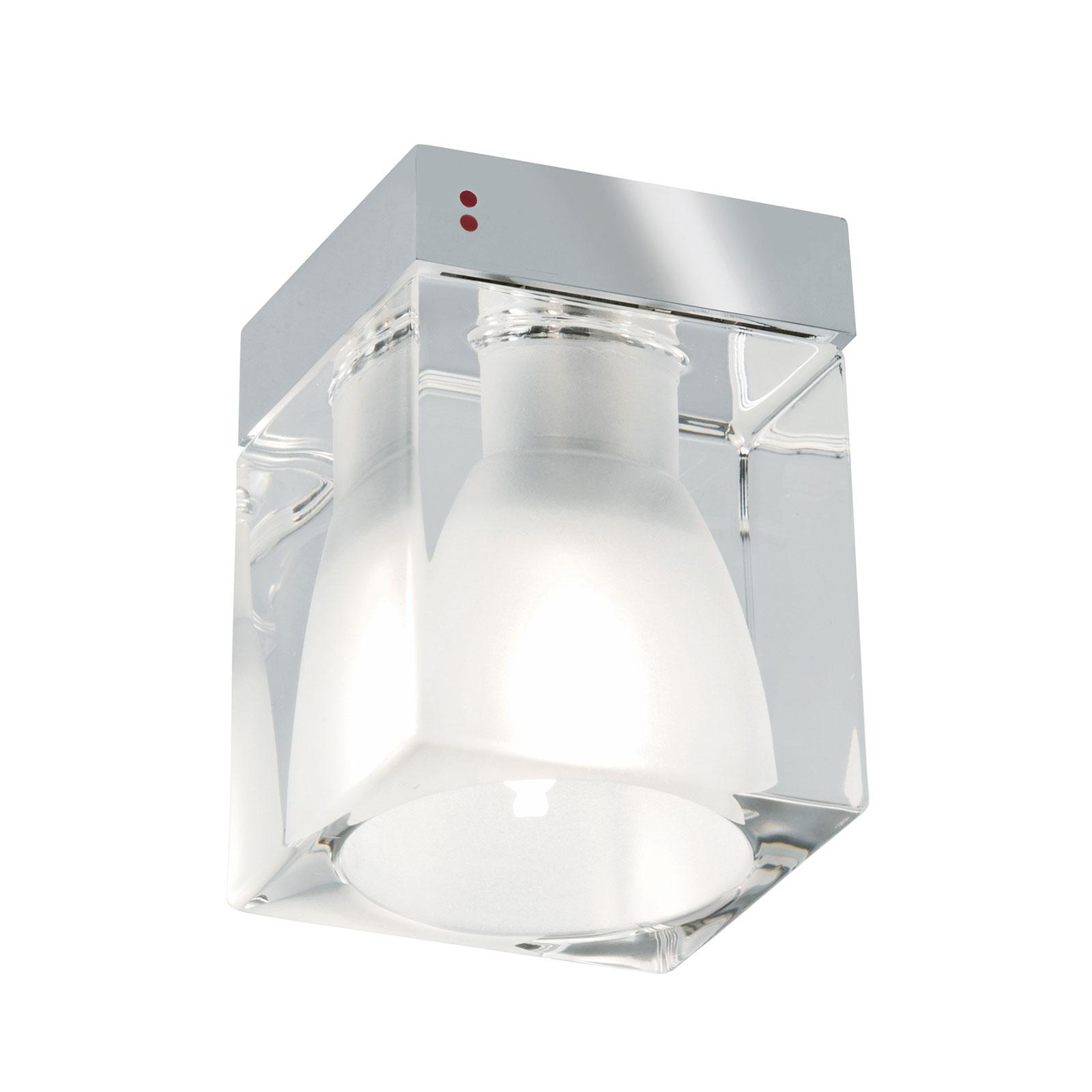 Cubetto lampa sufitowa 1-punktowa, przezroczysta