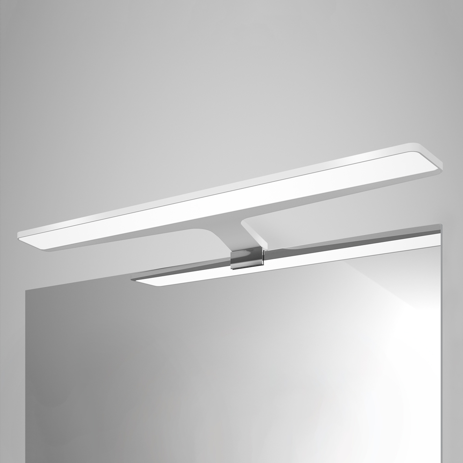 Applique pour miroir LED blanche Nayra