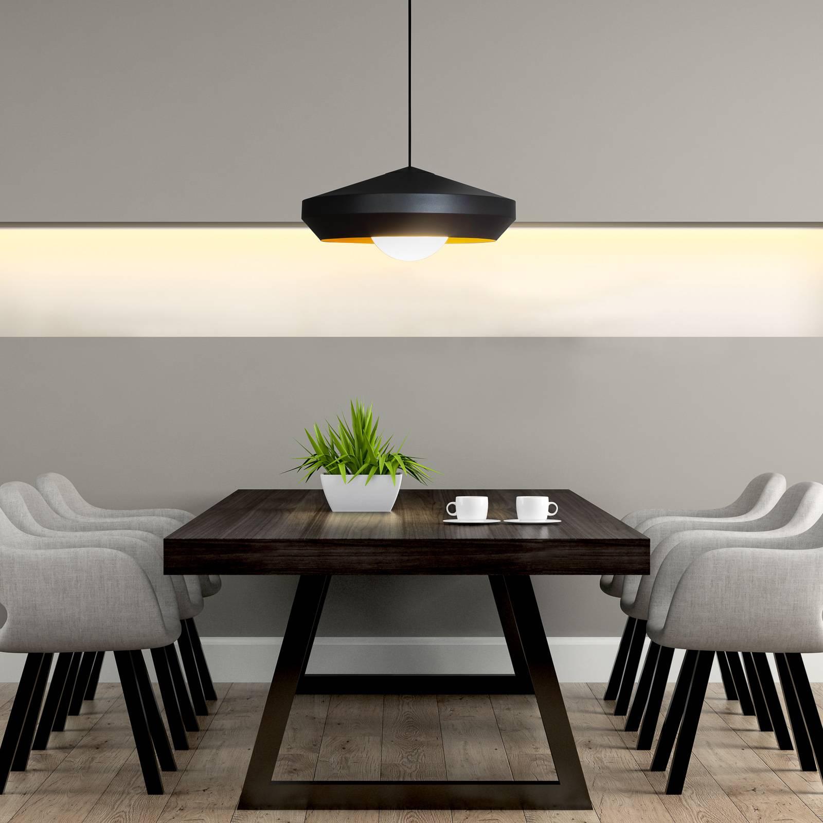 Innermost Hoxton 50 lampa wisząca, czarna/złota