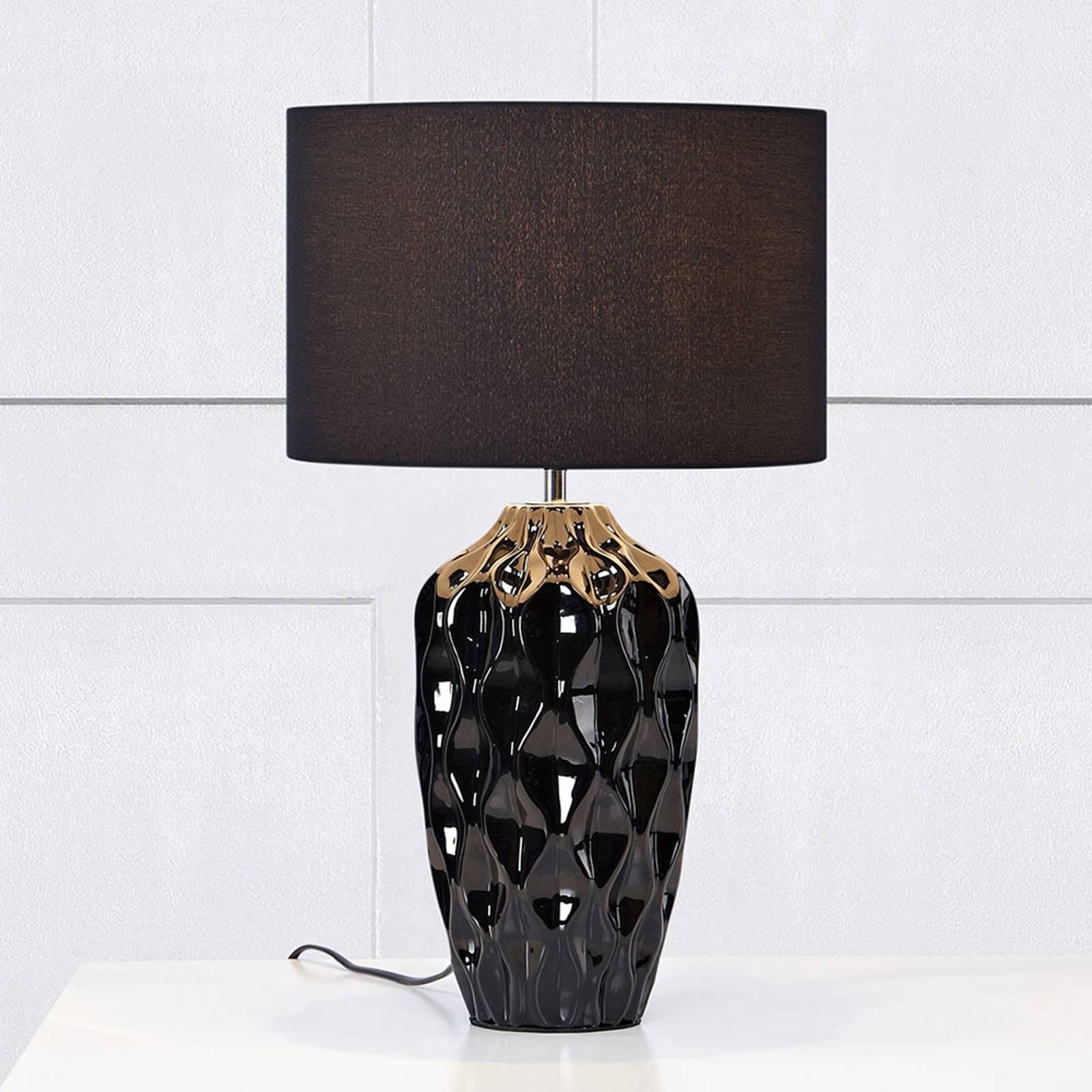 Tafellamp Angela, zwart