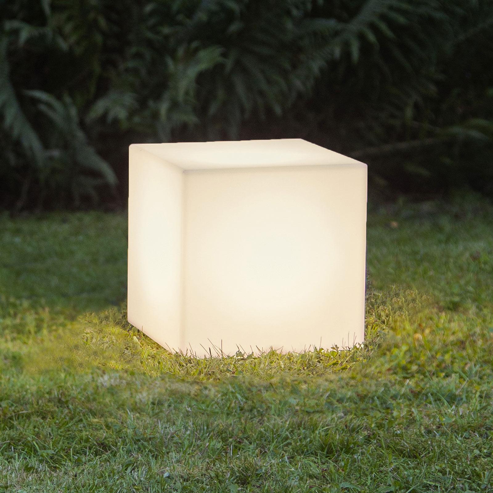 Lampa tarasowa Gardenlight, kostka, 30 cm