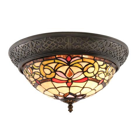 Deckenlampe 5909 mit breitem Rand und buntem Glas
