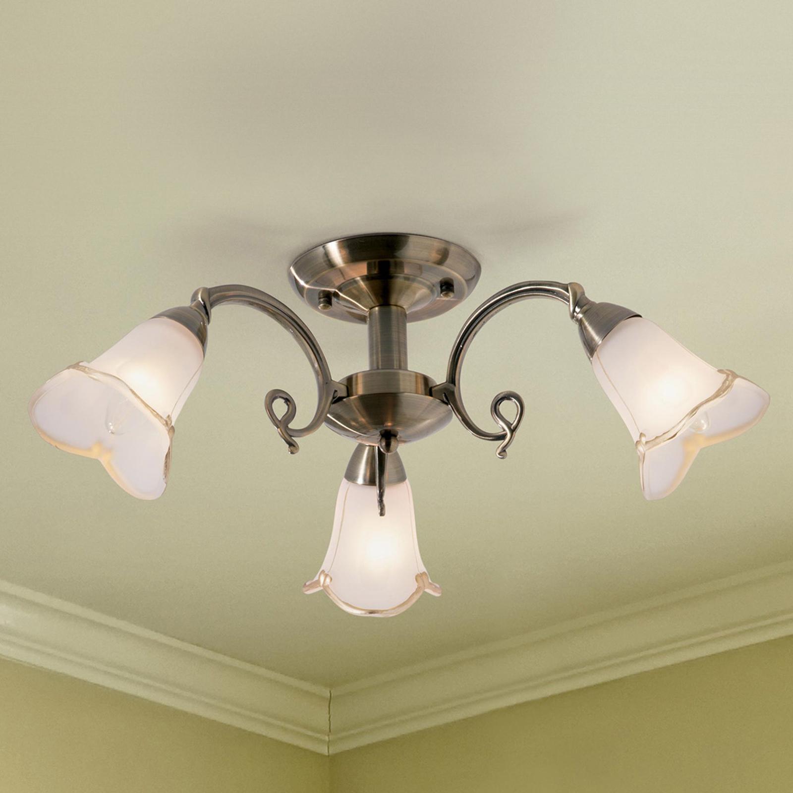 Opvallende 3-lichts plafondlamp Dalin