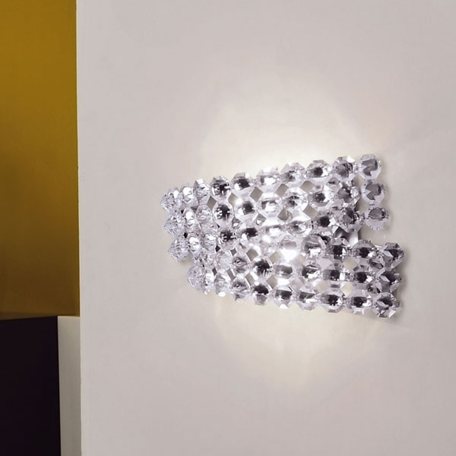Vegglampe DIAMANTE med krystall