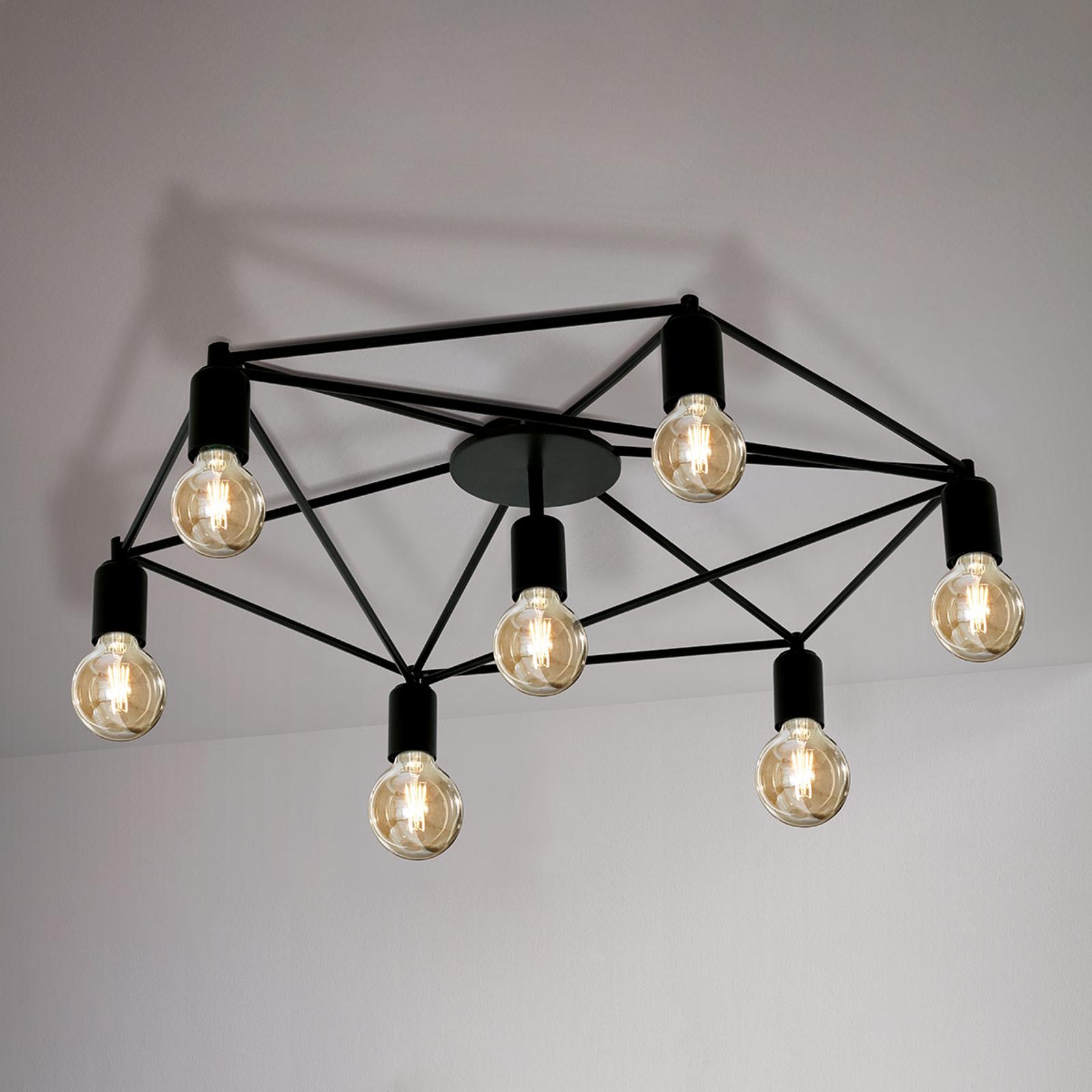 Lampa sufitowa Staiti czarna bez kloszy