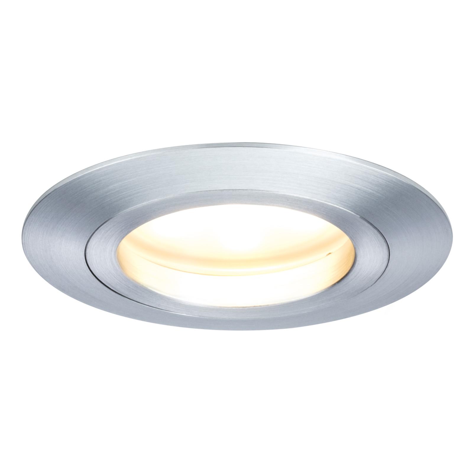 Paulmann Coin LED-Einbauleuchte IP44, 3er alu