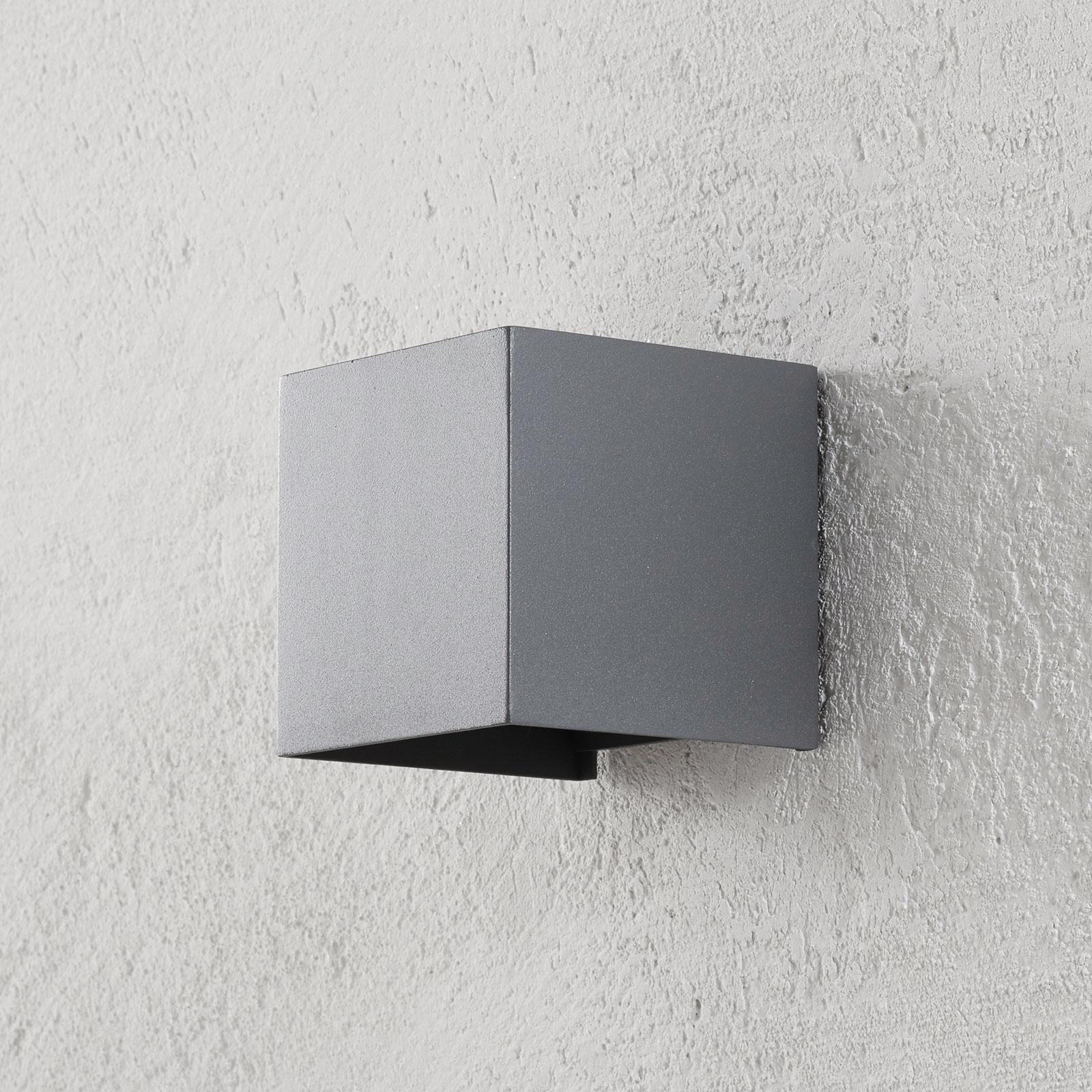 LED-Außenwandleuchte Cube anthrazit