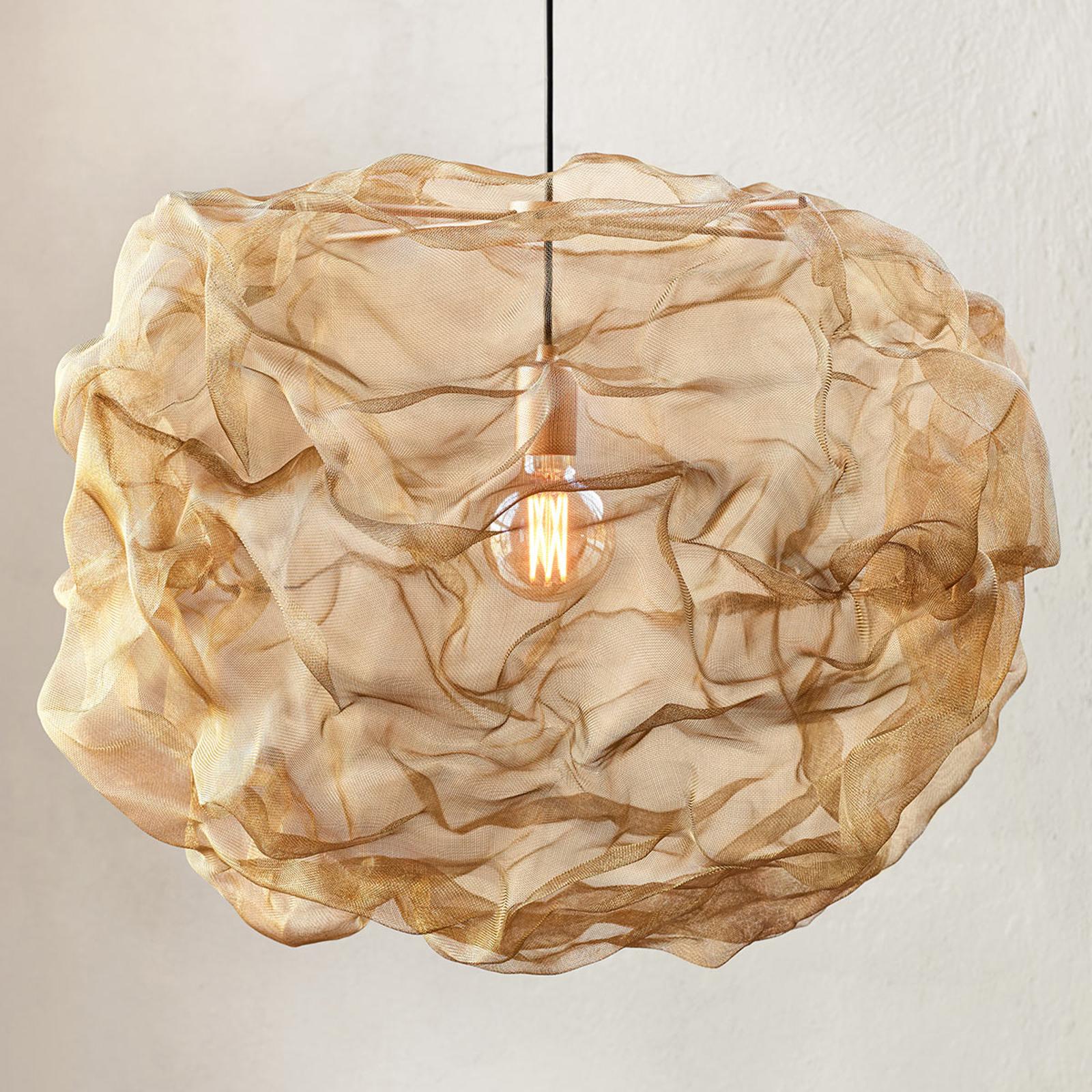 Lampa wisząca Heat z mosiężnej plecionki