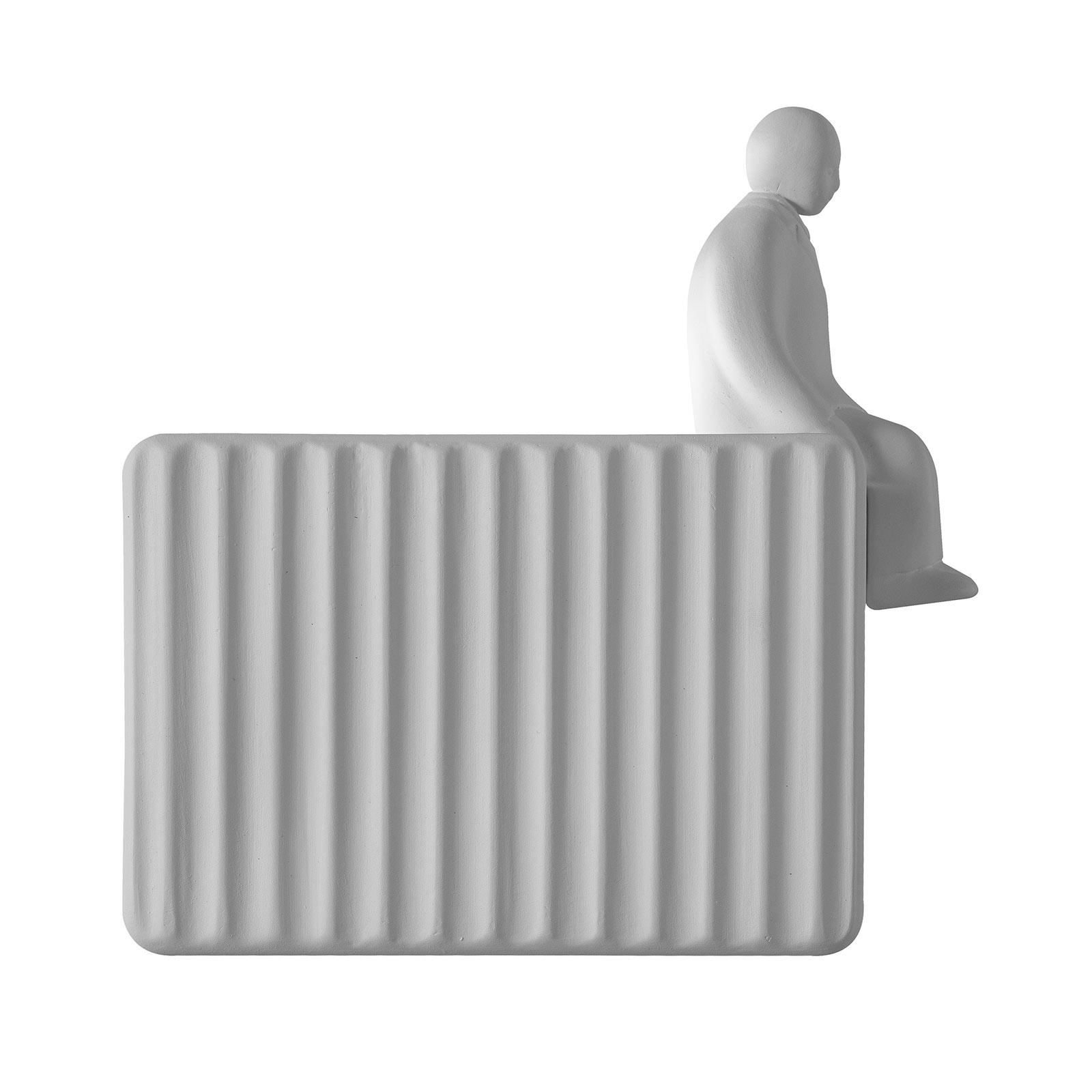 Karman Umarell Deko-Figur, Höhe 13 cm, sitzend