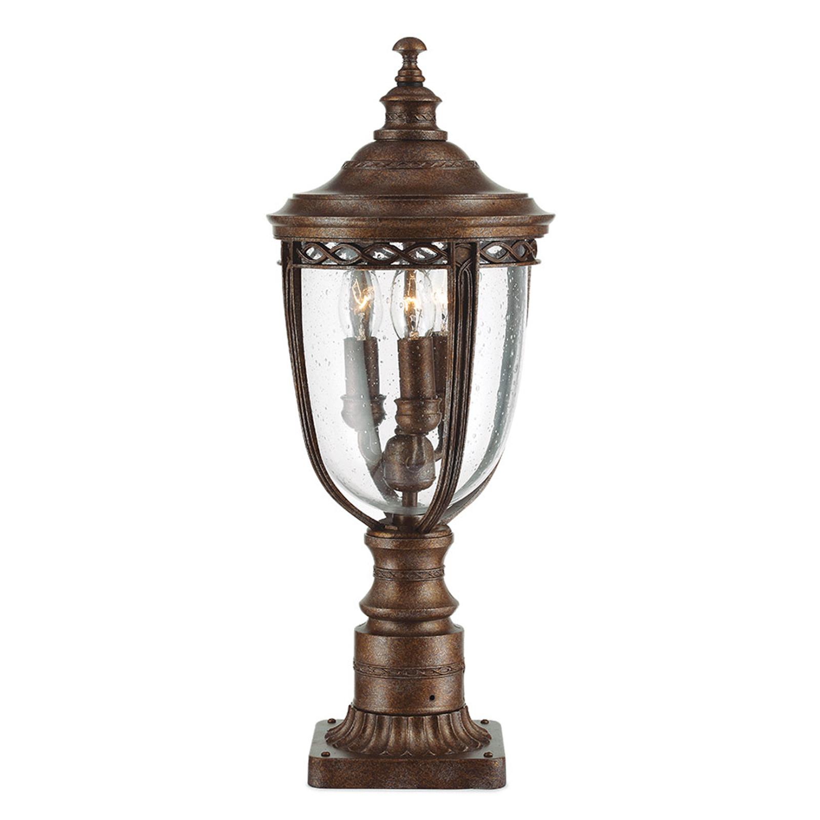 Sockelleuchte English Bridle, bronze