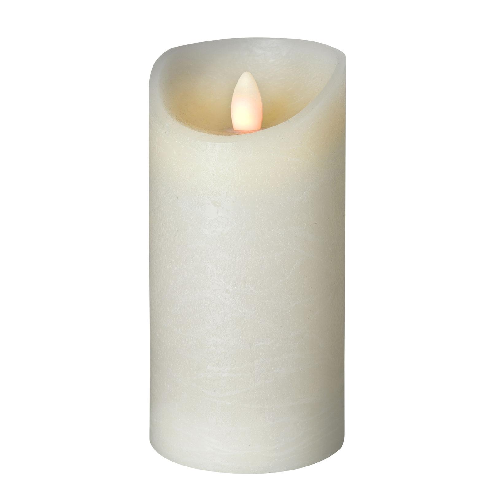 LED-Kerze Shine, Ø 7,5 cm, elfenbein, Höhe 17,5 cm