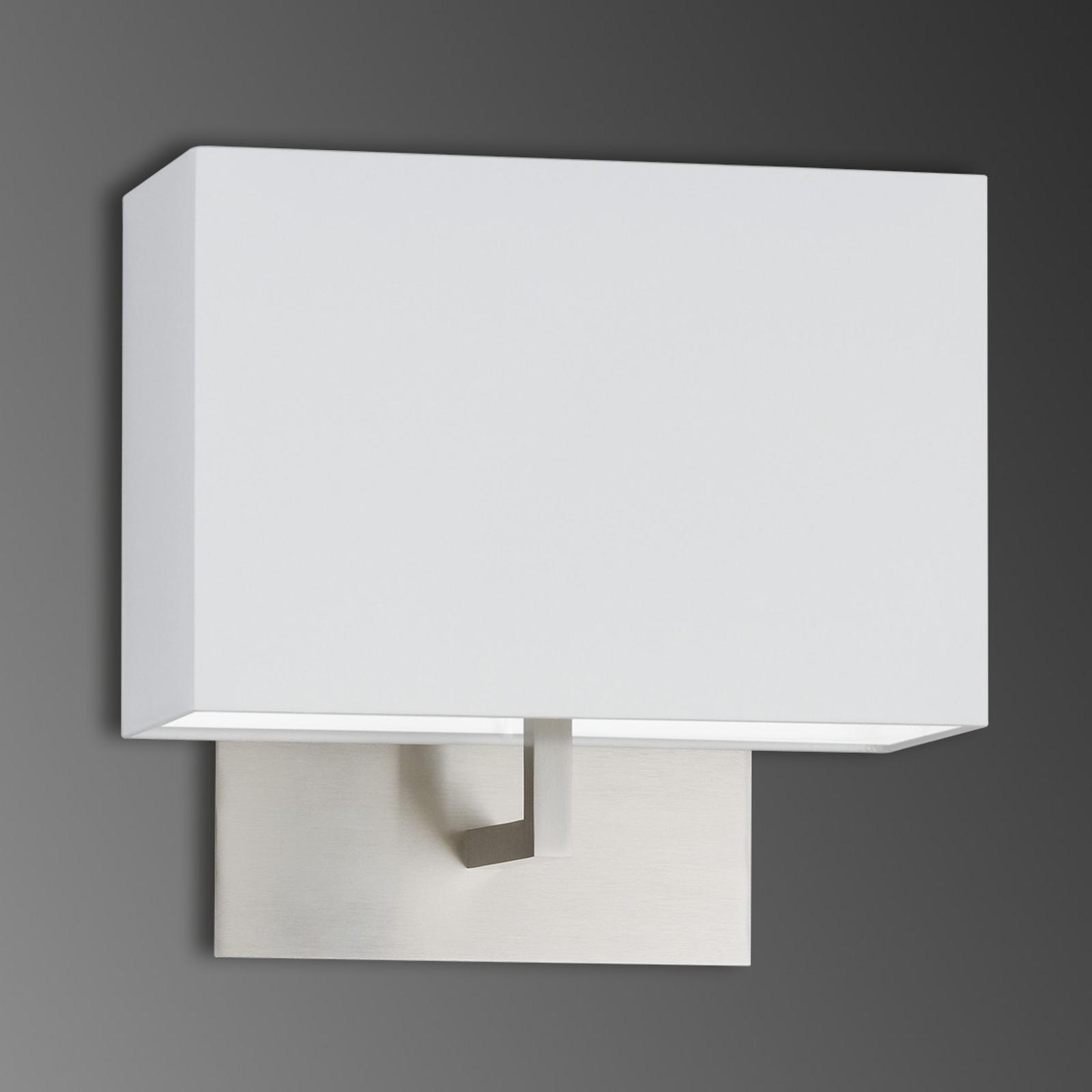 Textiel-wandlamp Vina met witte sits