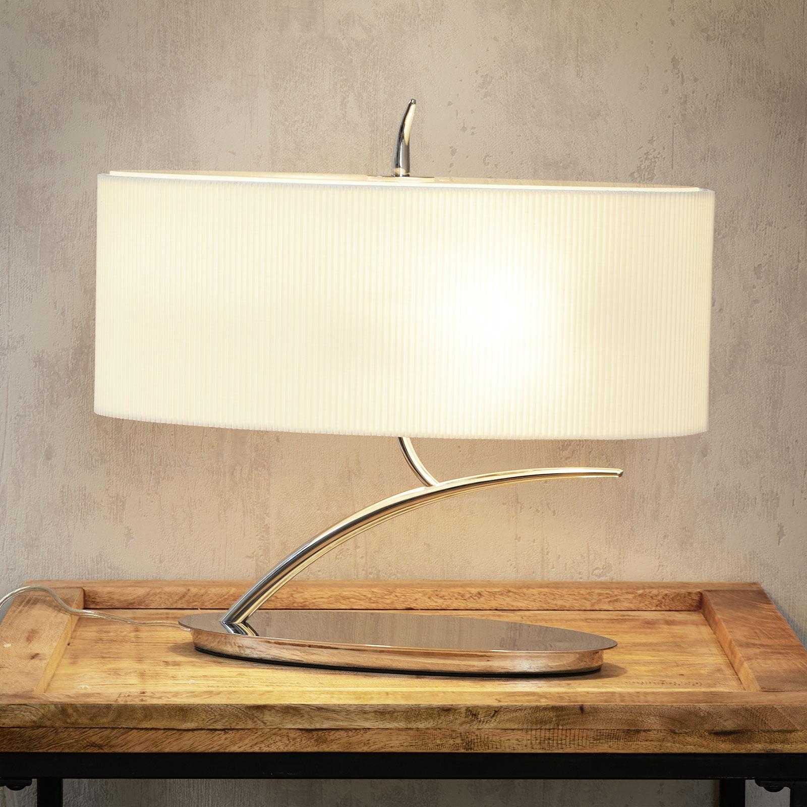 Lampe à poser en textile et poli miroir Eve