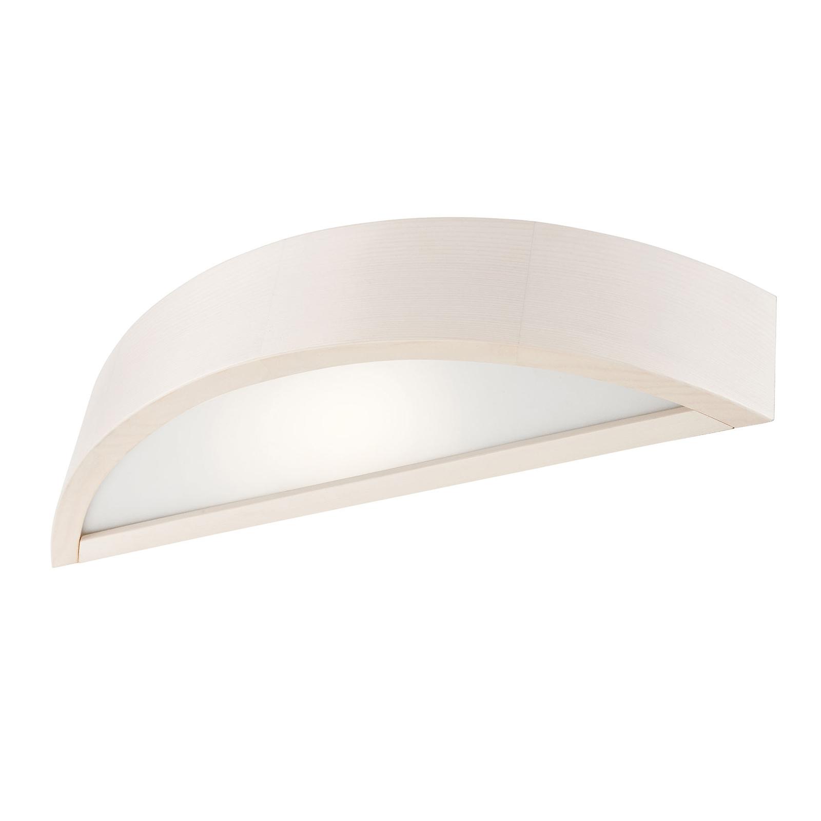 Wandlampe Kerio, halbrund, weiß