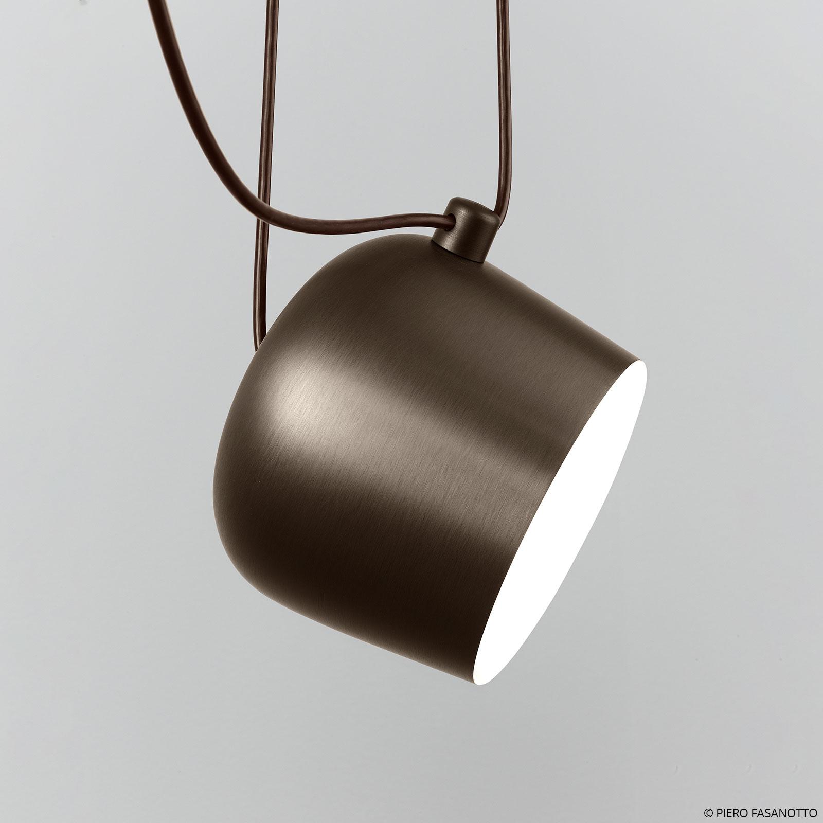 FLOS Aim Small lampada LED a sospensione, marrone