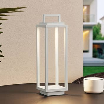 Lucande Mirina lanterna LED da esterni USB, bianco