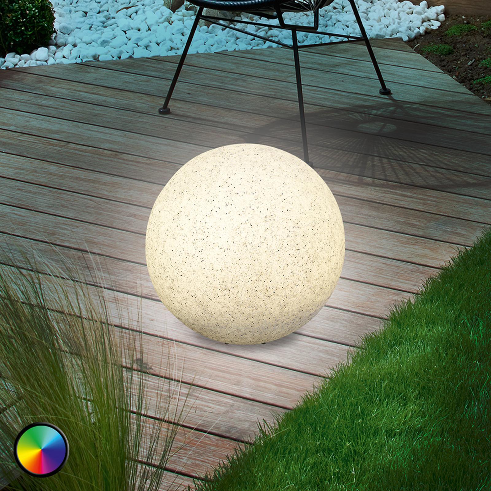 Moderna lámpara esférica solar LED Mega Stone 30