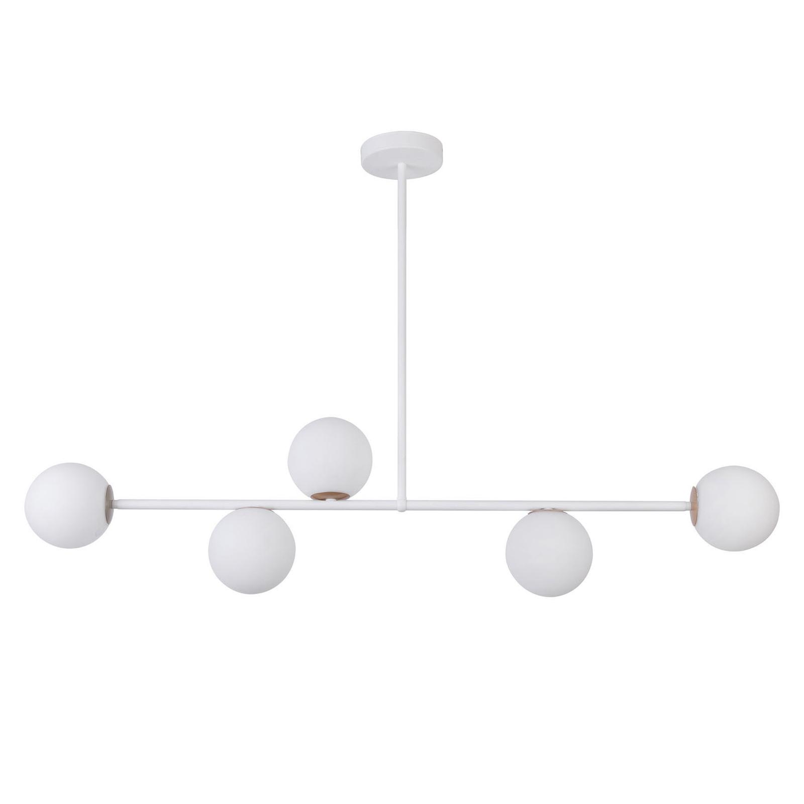 Gama 5 hængelampe, 5 lyskilder, hvid