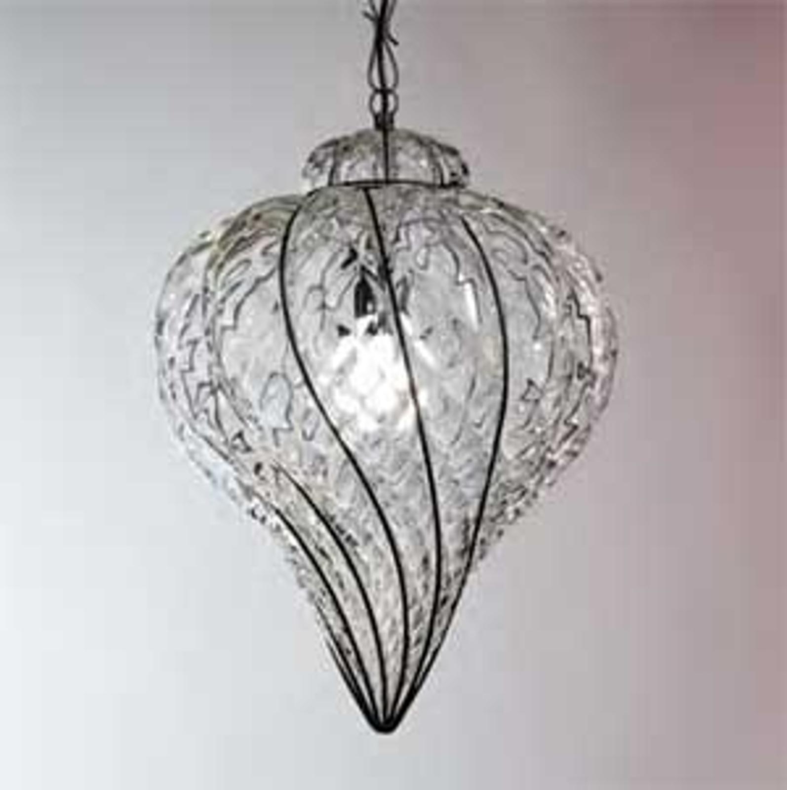 Lampa wisząca GOCCIA ze szkła dmuchanego 37 cm