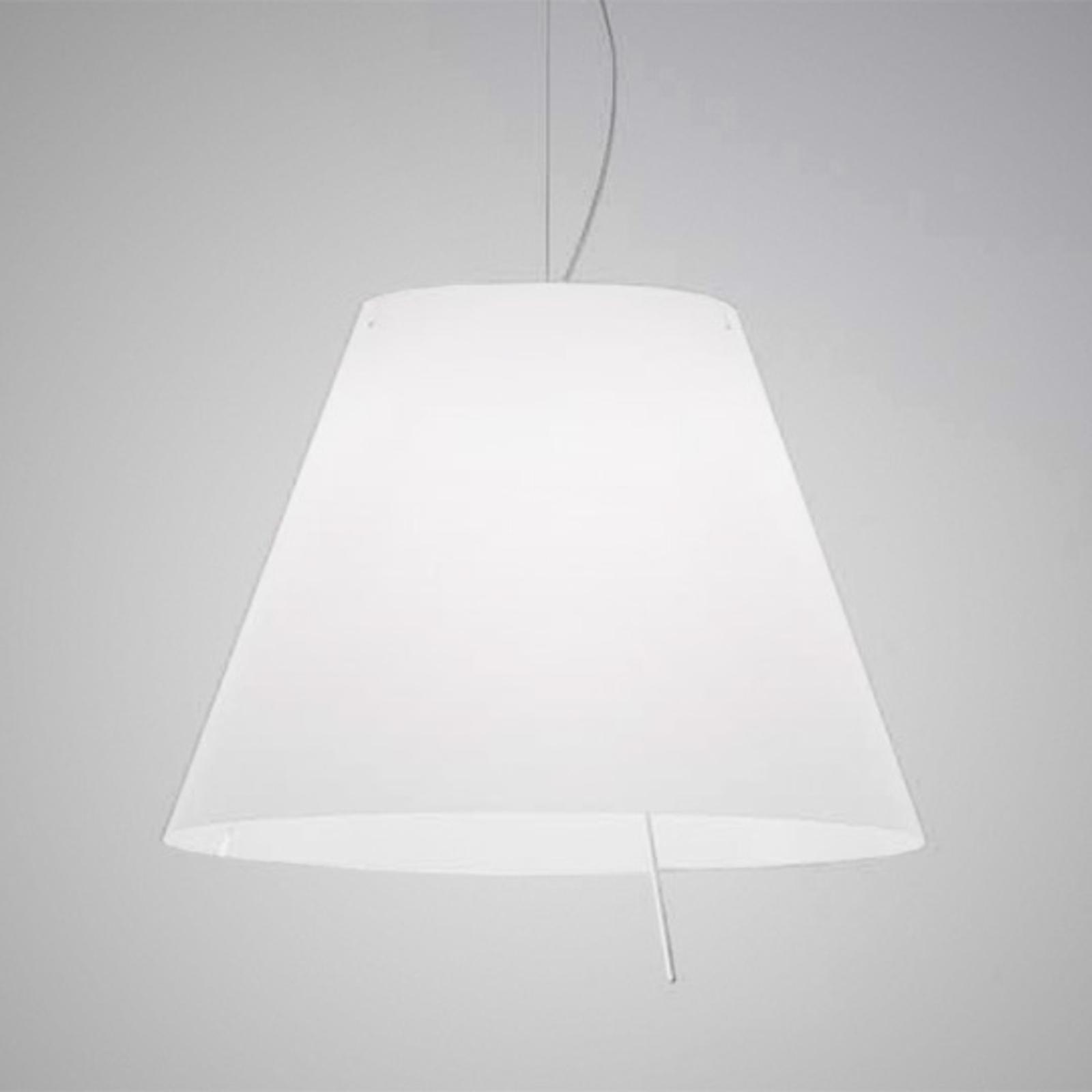 Biała lampa wisząca Grande Costanza