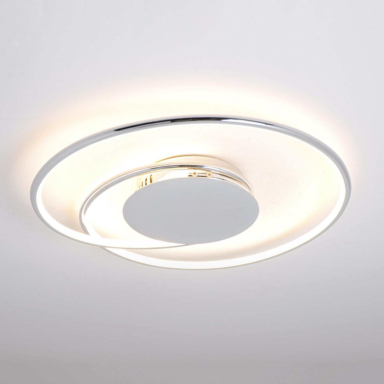 LED stropní svítidlo Joline, chrom, 46 cm