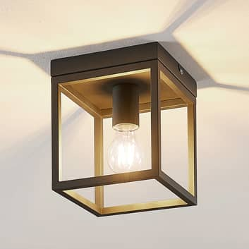 Lindby Meron lámpara de techo, forma caja, negro