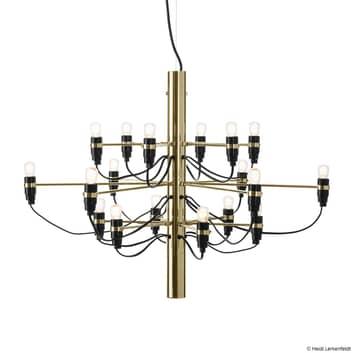 FLOS 2097/18 LED-ljuskrona, frostad