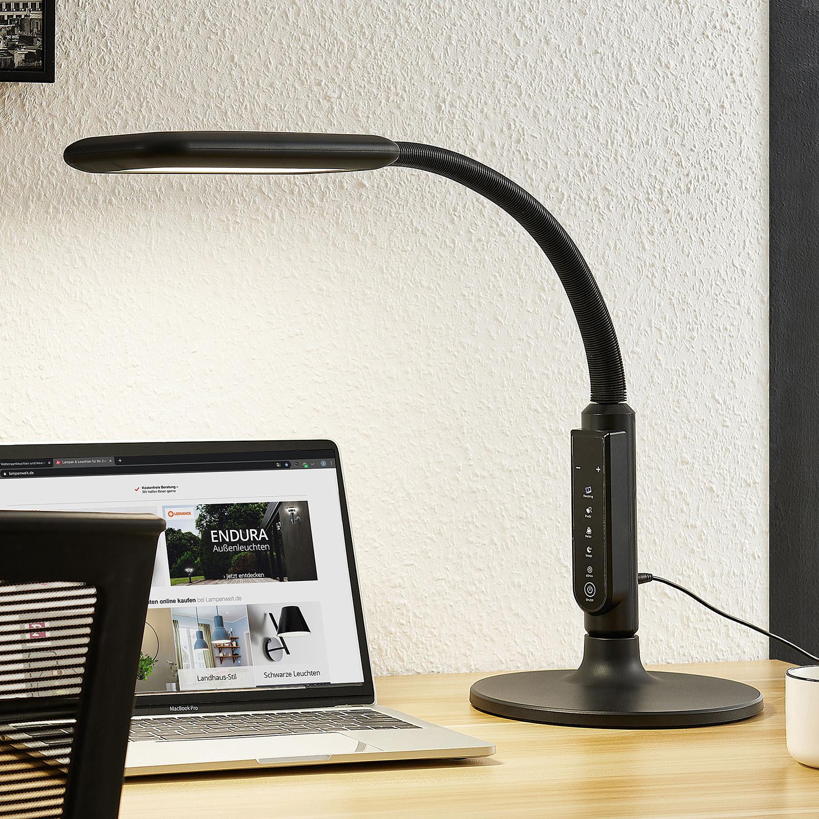 Arcchio Heimo LED-Schreibtischlampe dimmbar CCT
